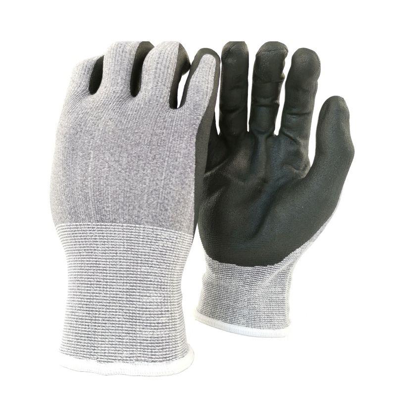 Перчатки вязанные нейлоновые с нитриловым покрытием ладони и пальцев