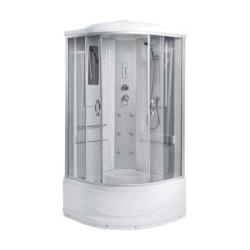 Душевая кабина Erlit Comfort ER2509TP-C4 90x90 полукруглая