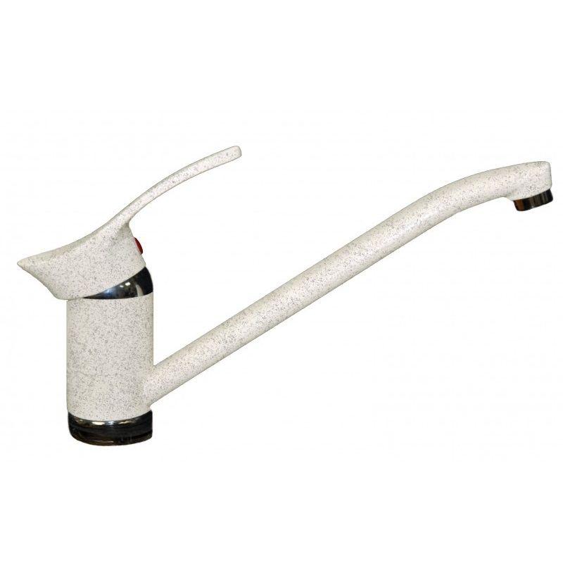 Смеситель для кухни AquaGranitEx C-1040 (331) белый