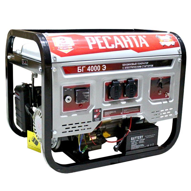 Генератор бензиновый Ресанта БГ 4000 Э фото