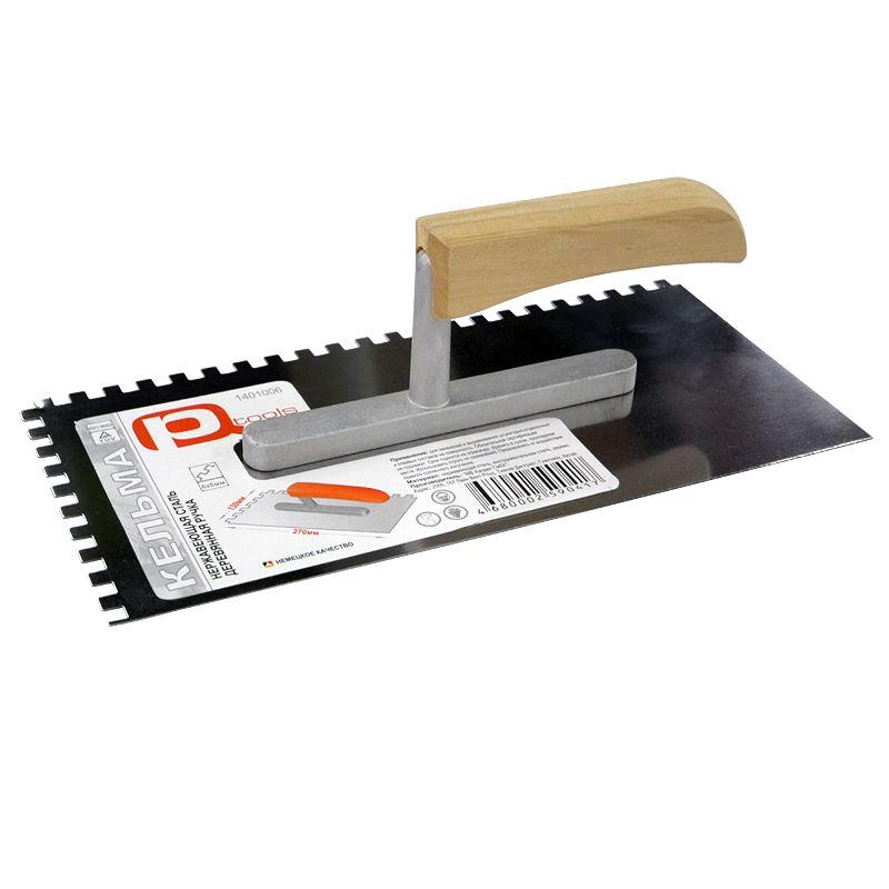Купить со скидкой Гладилка зубчатая PQTools, зуб 6×6 мм, 130×270 мм
