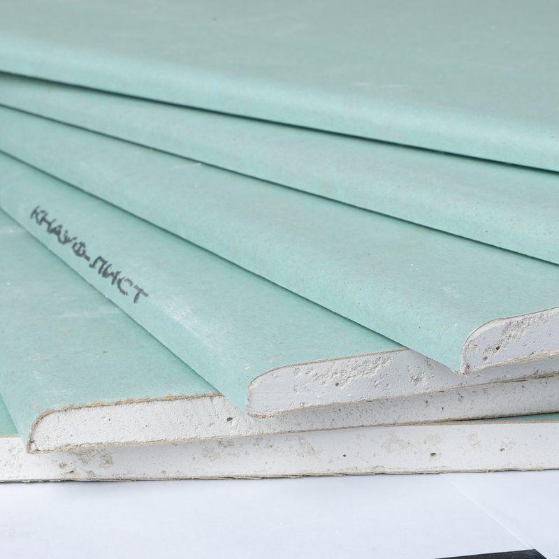Лист гипсокартонный влагостойкий Кнауф 2500х1200х9,5 мм фото