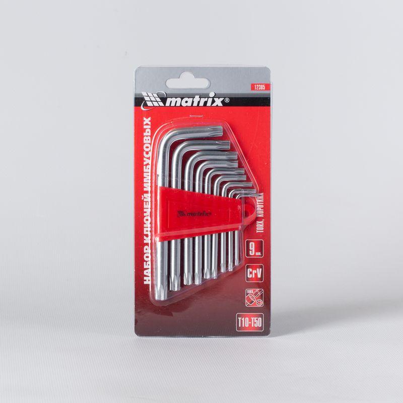 Набор ключей имбусовых Звездочки Matrix, 1,5-10 мм, 9 шт фото
