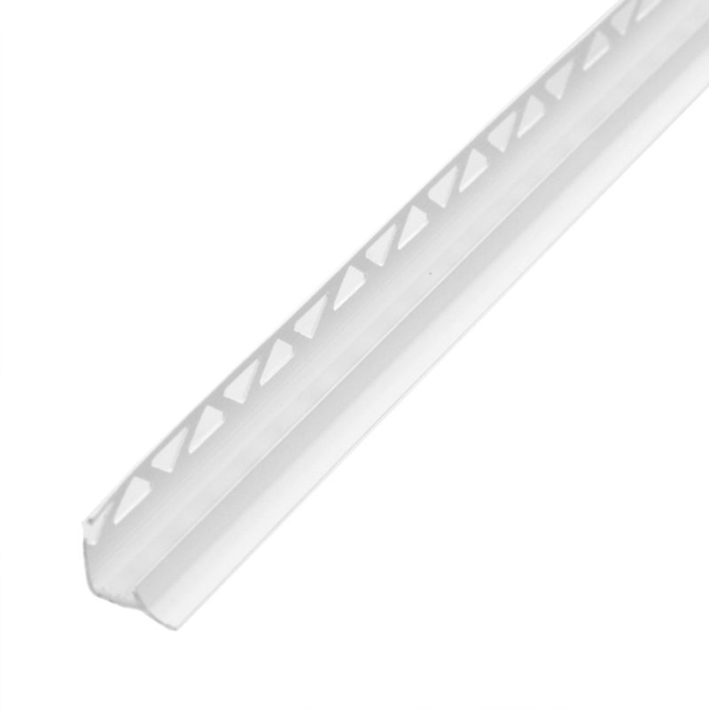 Раскладка под плитку 7-8 мм белая внутренняя 2,5 м фото