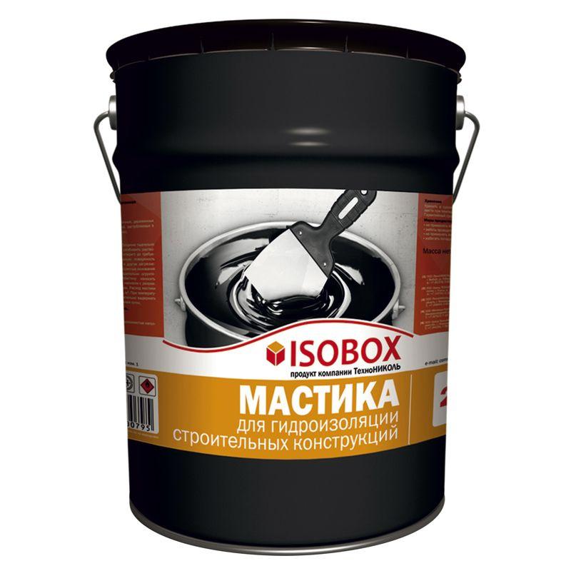 Купить Мастика гидроизоляционная ISOBOX ведро 22 кг