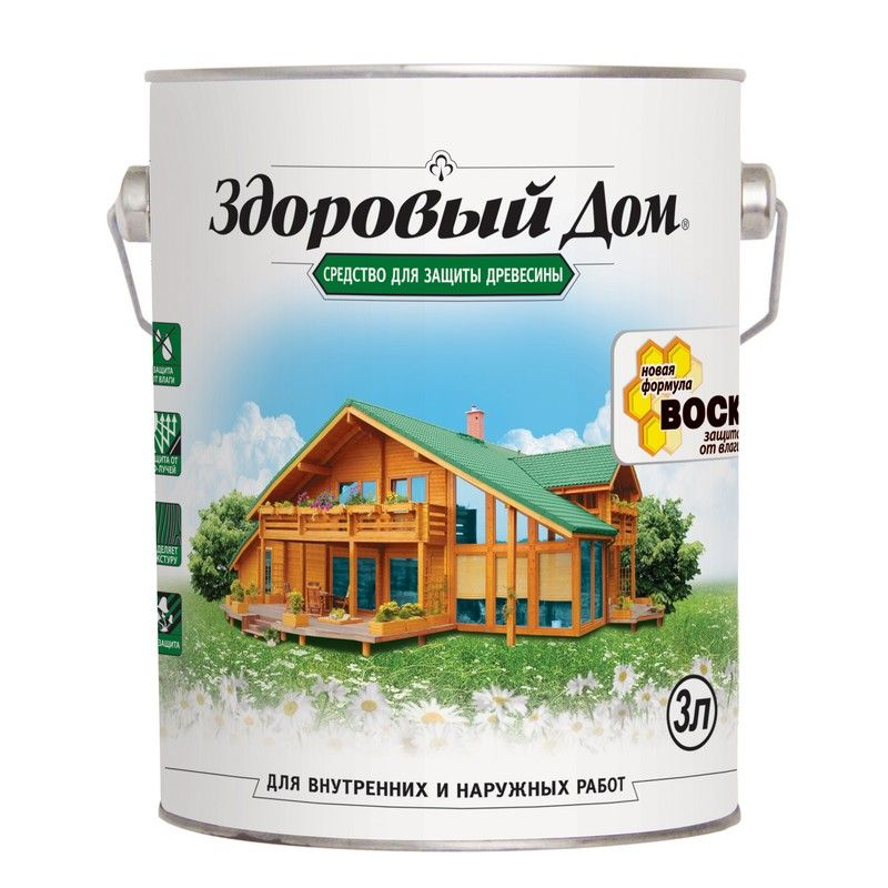 Купить со скидкой Пропитка для дерева Здоровый дом б/цвет., 3л
