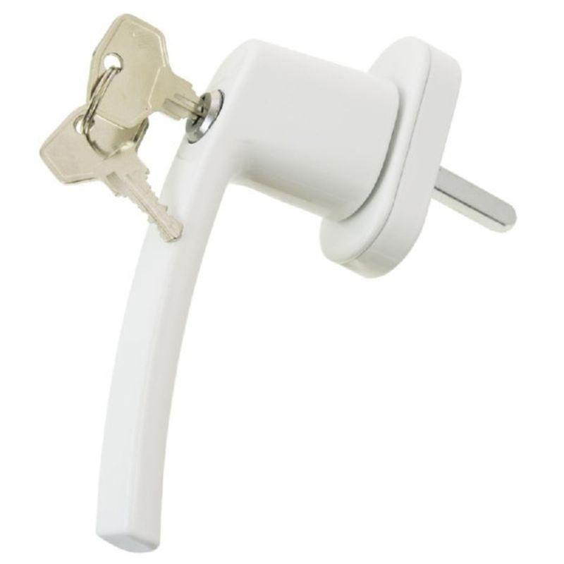 Ручка с замком для пластикового окна белая, 1 шт