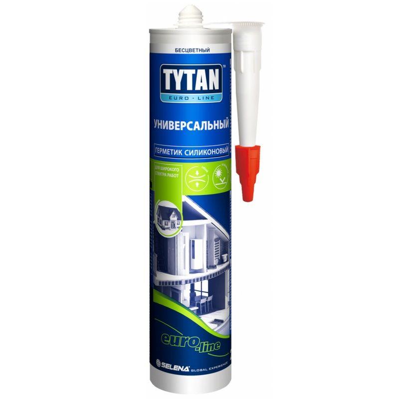 Герметик Tytan Euro-Line Силикон Универсальный (белый), 290 мл фото