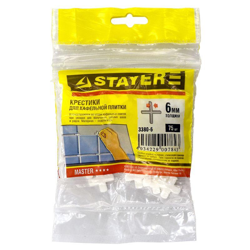 Крестики для плитки Stayer 6 мм (75 штук) фото