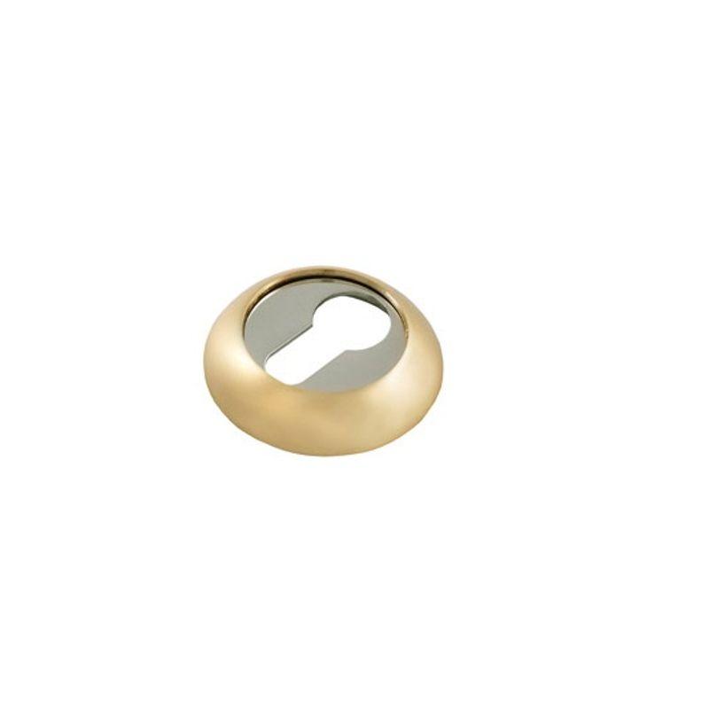 Накладка круглая под цилиндр PALLADIUM CR ET матовое золото/хром фото
