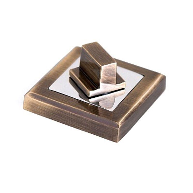Накладка квадратная под фиксатор Palladium CS BK античная бронза/хром фото