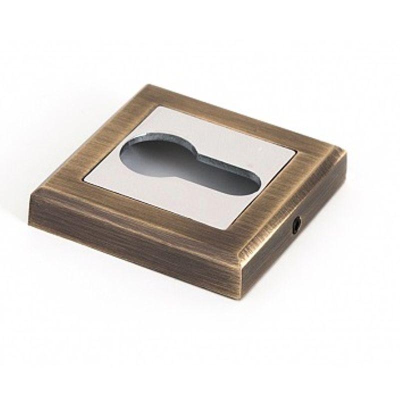 Купить со скидкой Накладка квадратная под цилиндр Palladium CS ET античная бронза/хром