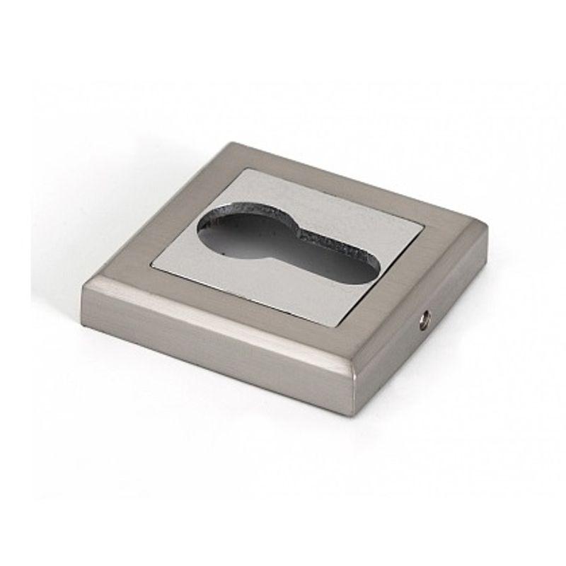 Накладка квадратная под цилиндр Palladium CS ET матовый никель/хром фото