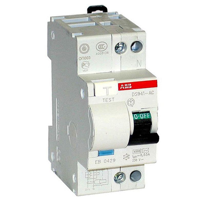 Купить Дифференциальный автомат 1п+N 2мод. C 40A 30mA тип AC 4.5kA DSH941R ABB, Италия
