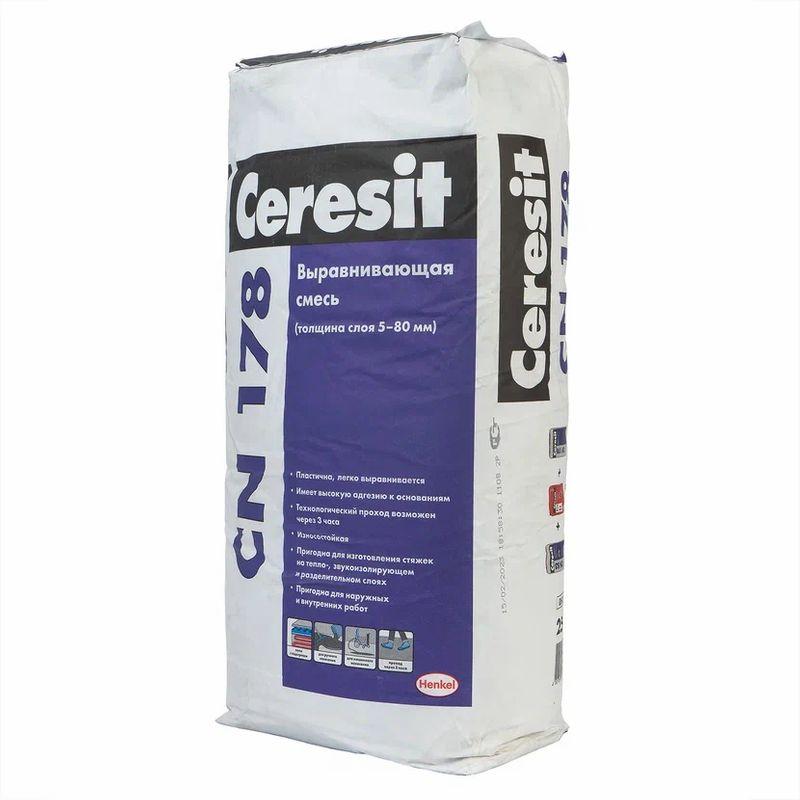 Ровнитель цементный Ceresit CN 178, 25 кг