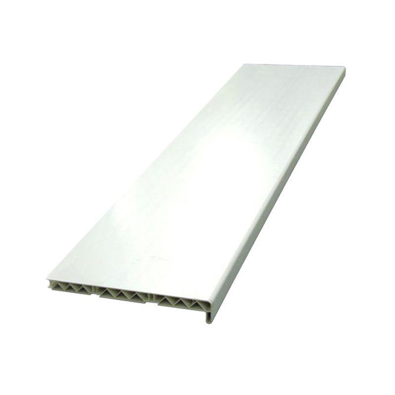 Подоконник ПВХ белый 300х1500мм фото