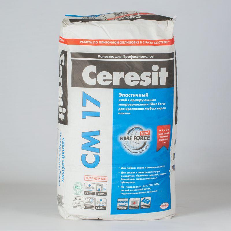 Клей для плитки Ceresit CM17 эластичный 25 кг фото