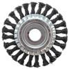Щетка дисковая 125мм/22мм для УШМ, проволока сталь крученая Yoko