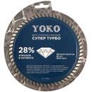 Диск отрезной алмазный по камню Супер Турбо 180х2,6х7х22,23 мм Yoko