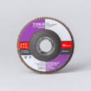 Круг лепестковый для шлифования Yoko Р60, 115×22 мм