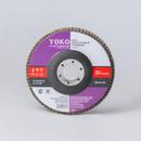 Круг лепестковый для шлифования Yoko Р60, 125×22 мм
