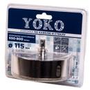 Коронка алмазная по кафелю и стеклу с центрирующим сверлом ø 115 мм Yoko