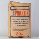 Смесь цементная универсальная с полимерными добавками Praktik М100, 30 кг