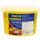 Масло льняное для пропитки древесины, 0,5л