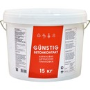 Gunstig Бетонконтакт, акриловая адгезионная грунтовка, 15 кг.