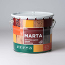 Декоративно-защитное средство для дерева MARTA, рябина, 2,7л