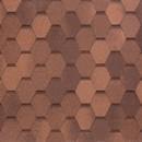 Черепица гибкая Tegola Nobil Tile Вест Красно-коричневый