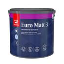 Краска Tikkurila Euro Matt 3 для гостиных и спален база С 2.7л