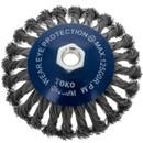 Щетка коническая 125мм/М14 для УШМ, проволока сталь крученая Yoko