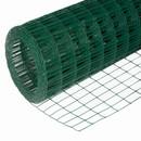 Сетка сварная зеленая 75х100мм, (1,5х15м) оцинкованная с ПВХ покрытием