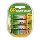 Аккумуляторы перезаряжаемые GP 250AAHC AA, емкость 2450 мАч - 4 шт. в клемшеле