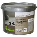 Штукатурка декоративная Радуга-34 Короед, фракция 2,5-3,0мм, 12 кг