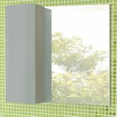 Зеркальный шкаф Comforty Рим 80 серый