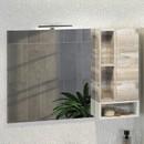 Зеркальный шкаф Comforty Турин 120 дуб бежевый