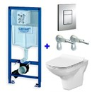 Комплект инсталляция Grohe Rapid 3 в 1 с унитазом Cersanit Carina New Clean On (4148228)