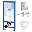 Комплект инсталляция Grohe Rapid 3 в 1 с унитазом Cersanit Nature New Clean On (4148233)