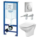 Комплект инсталляция Grohe Rapid SL 3 в 1 с унитазом Cersanit Carina New Clean On (4148231)