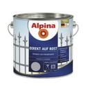 Эмаль по ржавчине Alpina бордовая 2.5л