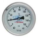 """Термометр биметаллический аксиальный 0-160°С, d=63мм, L=50мм, G1/2"""""""
