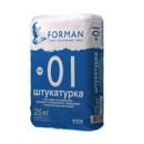 Штукатурка гипсовая Forman 01 суперлегкая ручного и машинного нанесения, 25 кг