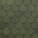 Черепица Гибкая Docke Pie Europa Cupola Зеленый, 3,1 м2