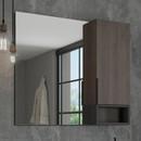 """Зеркало-шкаф COMFORTY """"Франкфурт-90"""", дуб шоколадно-коричневый (4150529)"""