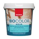Защитная декоративная пропитка для древесины Neomid bio color aqua, 0,9 л