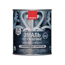 Эмаль по ржавчине 3 в 1 с молотковым эффектом Neomid серебро, 0,8 кг