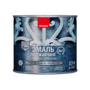 Эмаль по ржавчине 3 в 1 с молотковым эффектом Neomid серебро, 2,5 кг