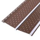 Софит металлический МП с полной перфорацией 15х240(264)х3000мм RAL 8017